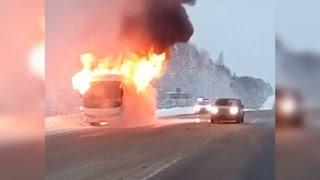 Подробности о сгоревшем автобусе
