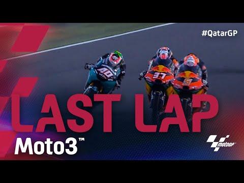 3位走行の佐々木歩夢がクラッシュ。Moto3 2021 第1戦カタールGP 決勝ラストラップ動画
