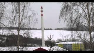 preview picture of video 'Dolný Kubín brezovec - odstrel komína HD'