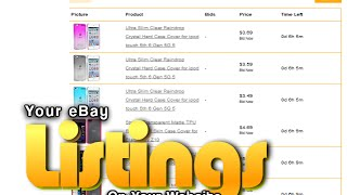 Add Your eBay Listings To Your Website