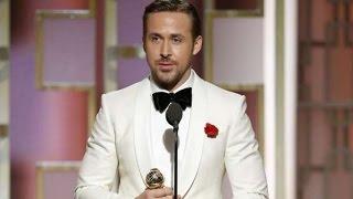Golden Globes 2017 Ryan Gosling Wins Best Actor Award For La La Land