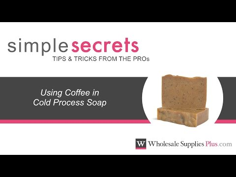 How To Use Coffee in Cold Process Soap {Simple Secrets}