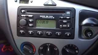How to UNLOCK Ford Focus radio 6000CD on LOCK10