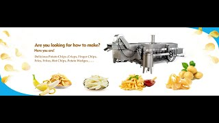 Frozen French Fries Process Machines youtube video