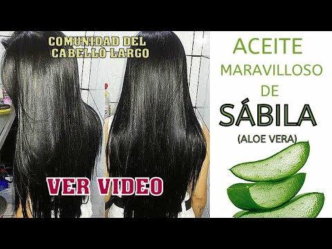 ACEITE CAPILAR DE SÁBILA (ALOE VERA) CASERO y fácil! Crecimiento del cabello acelerado!