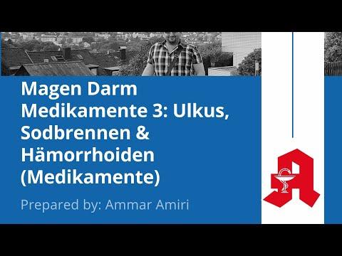 أدويةالجهاز الهضمي ٣ Magen Darm Medikamente 3: Ulkus, Sodbrennen & Hämorrhoiden (Medikamente)
