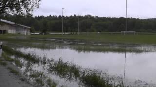preview picture of video 'Hochwasser Sportplatz Haag'