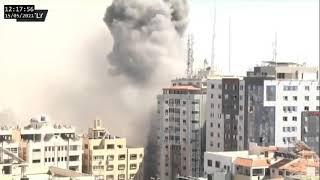 Израиль нанес ракетный удар по зданию в Газе, где располагались офисы мировых СМИ. ВИДЕО