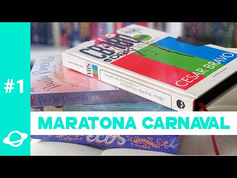 VLOG Maratona Carnaval #1 | 5 LIVROS EM 5 DIAS! | BOOK GALAXY