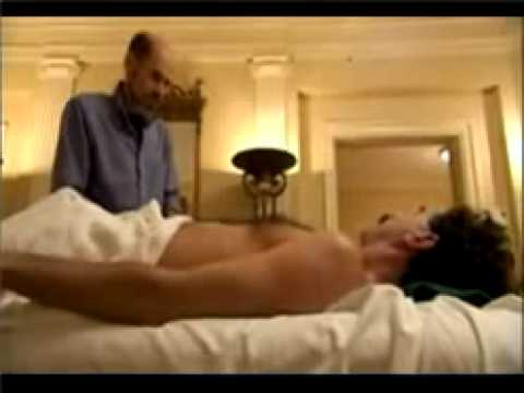 Gay gets an erection during a massage