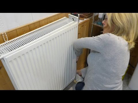 Jan shows how to remove radiator covers to clean the dust out.