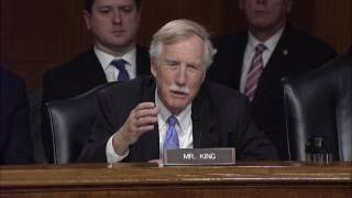 Senator King Intelligence Hearing on Russian Active Measures and Influence Campaigns