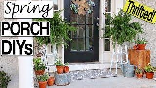 Spring Porch Decorating Ideas ⭐ DIY Farmhouse Front Porch Decor On A Budget