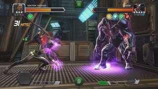 3 Star Dr. Voodoo VS Act 4 Venom (All Linked Nodes Active) - Marvel Contest Of Champions