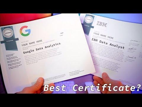 Google vs IBM Data Analyst Certificate - BEST Certificate for Data ...