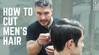 How To Cut Mens Hair | FULL HAIRCUT TUTORIAL | Classic Simple Barbering Techniques