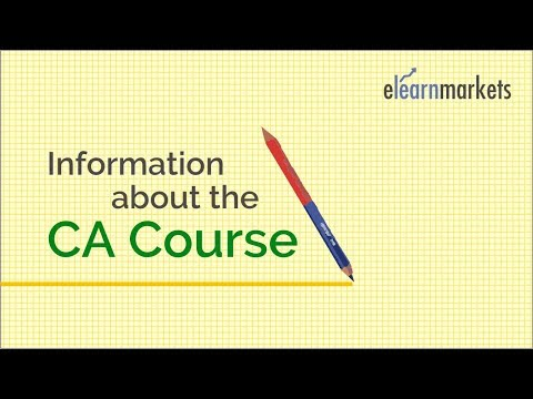 Information about the Chartered Accountancy Course in details ...