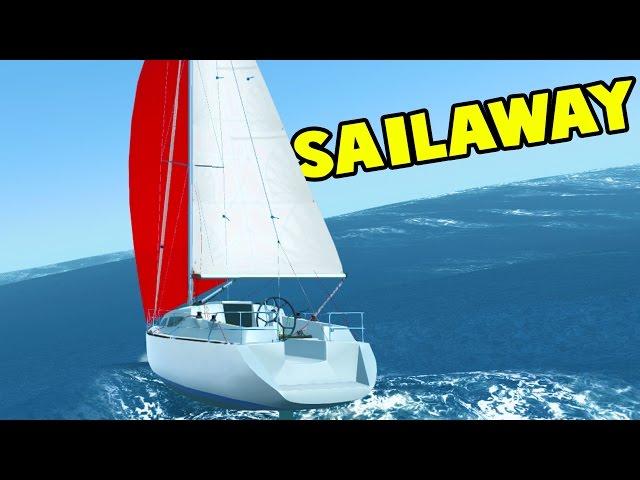 Sailing through MASSIVE Waves and Storms Near Australia!  Sailboat Simulator  - Sailaway Gameplay