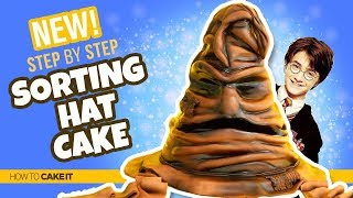 How To Make A Sorting Hat!!   HARRY POTTER CAKE By Shannon Murphy   How To Cake It Step By Step