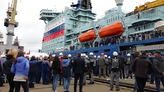 Nuclear icebreaker leaves St Petersburg for sea trials