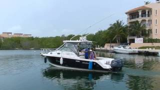 preview picture of video 'Yate Puerto Aventuras Pesca Paseo 30pies'