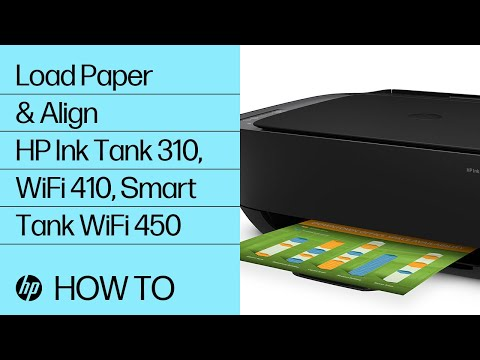 Loading Paper and Printing the Alignment Page in the HP Ink Tank 310, Ink Tank Wireless 410 and Smart Tank Wireless 450 Series