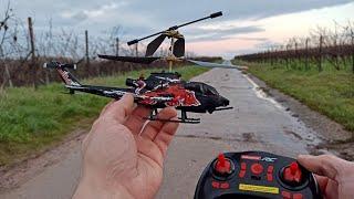 Carrera RC Helikopter - Red Bull Cobra TAH 1F im Red Bull Design - Unboxing & Test