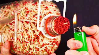 INSANE GIANT MATCH BOTTLE FIRE!