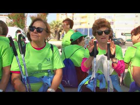Marcha Nórdica de Otoño en el Programa de Mayores y Adultos en el Deporte