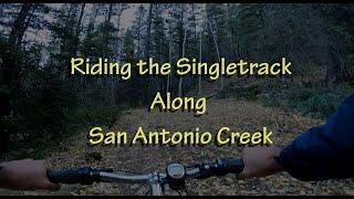 Riding the San Antonio Creek Singletrack to the creeks headwaters in Valles Caldera.