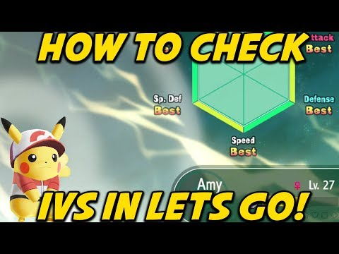 How to Check IV's in Pokemon Let's Go Pikachu and Eevee! Judge Pokemon Location