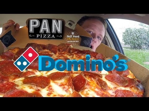 Domino's ☆DOUBLE PEPPERONI PAN PIZZA☆ Food Review!!!