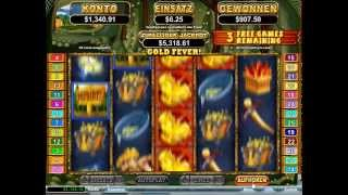 Paydirt Slot - Gold Fever Feature - Big Win