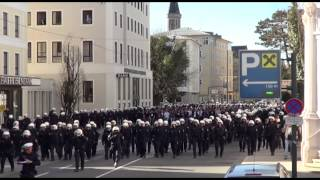 preview picture of video 'Fans vom FC Basel in Salzburg'
