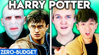 HARRY POTTER WITH ZERO BUDGET! (Harry Potter vs. Voldemort Deathly Hallows PARODY)