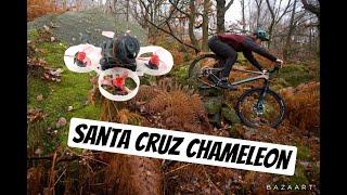FPV Drone Follows Mountain Biker HD (Santa Cruz Chameleon)