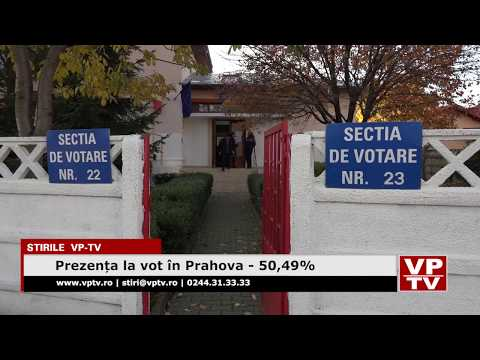 Prezența la vot în Prahova – 50,49%