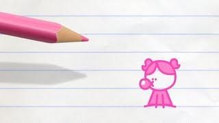 Bubblegum Grump | Pencilmation Cartoon #32