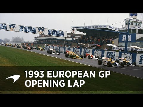 Ayrton Senna's Opening Lap of the 1993 European GP at Donington