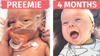 4 MONTH PREEMIE UPDATE | 33 Week 4 Lb Baby - Preemie Baby Grows Up