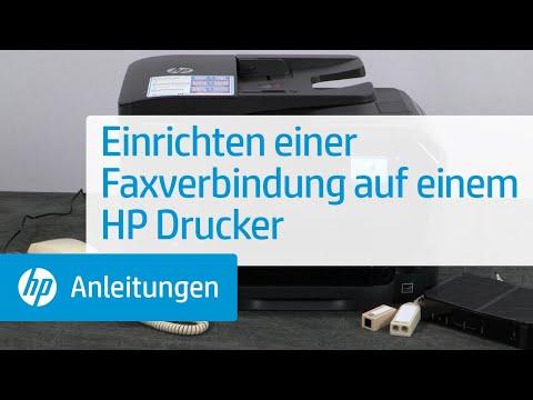 Einrichten einer Faxverbindung auf einem HP Drucker