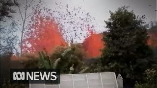 Hawaii resident goes home to find spewing lava in his backyard - Video Youtube
