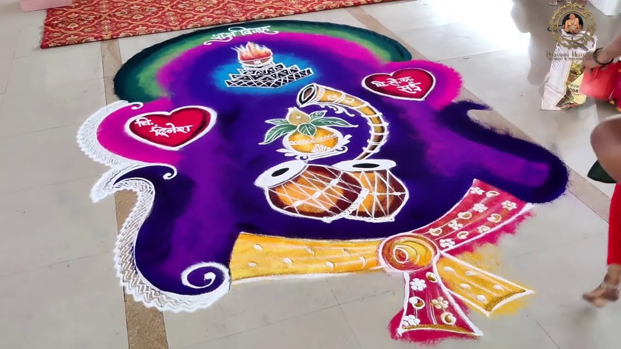beautiful wedding rangoli design marriage function by rajashri junnarkar bhagawat