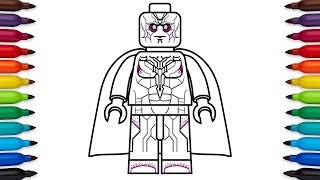How to draw Lego Ant-Man (Scott Lang) from Marvel's Ant-Man