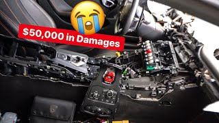 GIRL DESTROYS BF LAMBORGHINI AS PAYBACK! $50,000 IN DAMAGES
