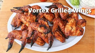 Vortex Grilled Chicken Wings | Chicken Wings Grilled On Weber Kettle with Vortex