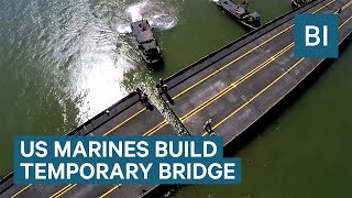 US Marines built a temporary bridge across the Colorado River