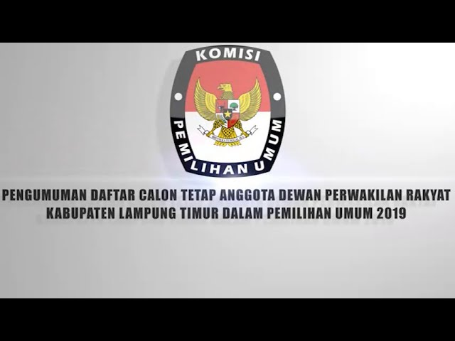 Daftar Calon Tetap Dct Anggota Dprd Kabupaten Lampung Timur Radartvnews Portal Berita Lampung
