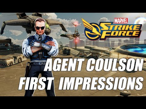 Agent Coulson Rank up, First Impressions & Gameplay - Marvel Strike Force