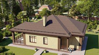 Проект дома 115-D, Площадь дома: 115 м2, Размер дома:  13,6x11 м